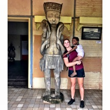 African Museum: Our host's daughter and I